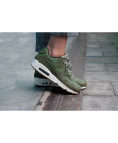 bb4fd92741 Women's Nike Air Max 90 Premium Palm Green/Sail/Legion Green 443817-301