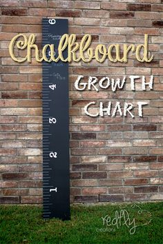 Build your own Chalk Board Ruler Growth Chart from redflycreations.com