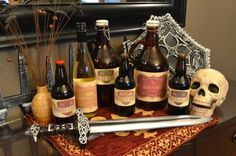 Game of Thrones wine and beer label printables