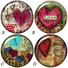 Heart Snap Charms for 18-20 mm snap jewelry. by BeaditBracelets