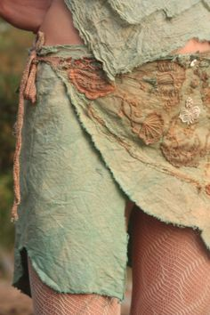 Mermaid wrap skirt in raw silk by FractalWings on Etsy