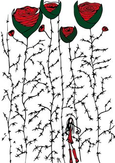 Illustration: © Trine Kvalnes Follow me at: facebook.com/bittelita Illustrations, Shower, Facebook, Prints, Rain Shower Heads, Illustration, Showers, Illustrators