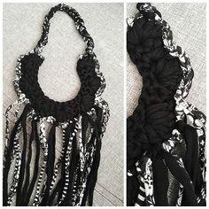 #necklace #naszyjnik #dzierganie #bizuteria #crochetnecklace  #crochet #crocheting #szydełko #szydełkowanie #wip #handmadeinpoland #handmade #polskierekodzielo #rekodzieło #craftart #craft  #passion  #byhand #recznarobota #yarn #yarnporn #yarnart #i_love_rekodzielo #handmadefashion #karolahandmade #hippystyle #bohostyle #kottoon #tshirtyarn #handmadejewelry