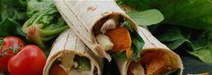 Kumara Chicken & Spinach Lunch Wraps Recipe