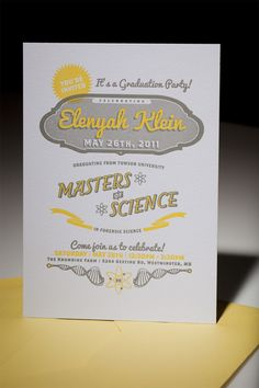 Elenyah Klein's Graduation Party Invite was so much cooler than mine. - On For Print Only