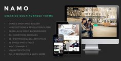 #NAMO – Creative Multi-Purpose #WordPress Theme with all features.