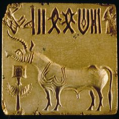 Large square unicorn seal with perforated boss on the back The unicorn is the most common motif on Indus seals and appears to represent a mythical animal that Greek and Roman sources trace back to the Indian subcontinent. Bronze Age Civilization, Indus Valley Civilization, In Ancient Times, Ancient Art, Harappan, Mohenjo Daro, Ancient World History, Ancient Jewelry, Ancient Civilizations