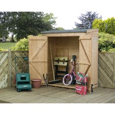 W x 3 Ft. D Shiplap Pent Wooden Tool Shed Lynton Garden Installation Included: Yes Garden Storage Units, Tool Box Storage, Garden Storage Shed, Storage Sheds, Easy Storage, Metal Shed, Metal Roof, Shiplap Sheds, Tongue And Groove Cladding