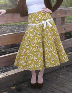 Sewing Pattern Retro 1950s Full Fared Spin Skirt 1209