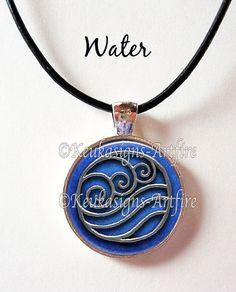 Last Airbender Elements Symbol Pendant Water