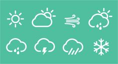 Weather Icons by Eszter Jani Ui Design, Icon Design, Weather Icons, Artsy, Behance, Symbols, Neon Signs, Inspiration, Corporate Design