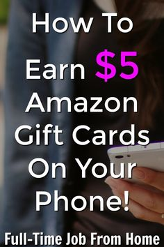 If you're looking to make an extra income on your phone, learn how you can earn $5 Amazon gift cards taking surveys on the go with the SurveyMonkey Rewards App! Work From Home Moms, Make Money From Home, Way To Make Money, Make Money Online, Earn Extra Cash, Making Extra Cash, Apps That Pay You, Work From Home Companies, Part Time Jobs