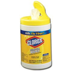 clorox wipes.  You cannot beat these.  I keep one in each bathroom, kitchen and in my car.  They're great for quick clean ups and to disinfect.  Great product.