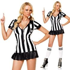 referee sexy new leg ave costume small with studded briefs ebay