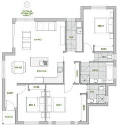 A Green Homes design is always of the highest quality. The Melaleuca energy efficient home design is one of many quality driven, creative houses we offer.