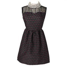 Red Round Neck Sleeveless Dress