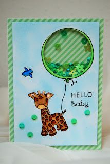Hello Baby Shaker Card by Lisa