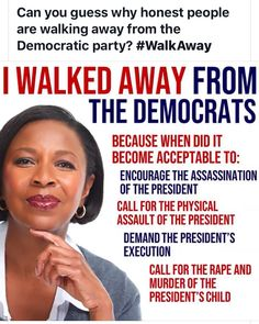 I walk away from the Democrats, because I believe President Trump can fight against corruptions! Political Quotes, Political Views, Mantra, Trump Is My President, Liberal Logic, Conservative Politics, Democratic Party, Thought Provoking, Deep Thoughts