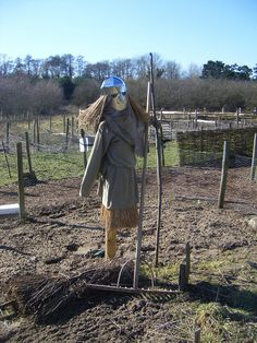 Scarecrow at West Stow's reconstructed Anglo-Saxon village by gryphon569.