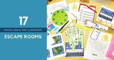 20 escape room puzzle ideas to help you create escape rooms for your middle school classroom. Escape Room For Kids, Escape Room Puzzles, Escape Puzzle, Middle School Classroom, Science Classroom, High School, History Classroom, Teaching Science, Girl Scout Activities