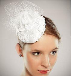 High Fashion Off White Bridal Head Piece /  by EllaGajewskaBridal, $159.00