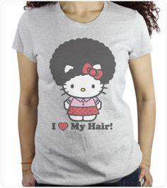 hello kitty with afro