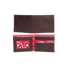 Men's Wallet - Brown Bandana