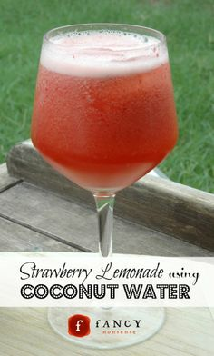 Strawberry Lemonade using Coconut Water