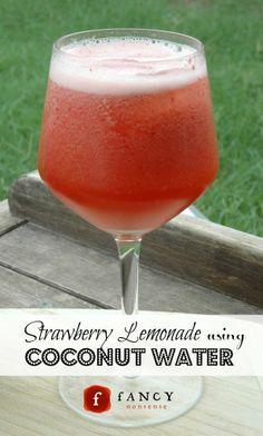 strawberry lemonade coconut water