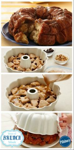 Grands! Monkey Bread is a classic Easter Brunch recipe. The classic monkey bread recipe, oozing with warm caramel and cinnamon. Monkey bread is irresistible! Made with Pillsbury Grands! Homestyle refrigerated buttermilk biscuits, this simple recipe is yours in just 25 minutes of prep.