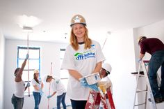 Laura Linney at Broadway Builds in NYC #HabitatNYC Learn more about Habitat NYC at Habitatnyc.org
