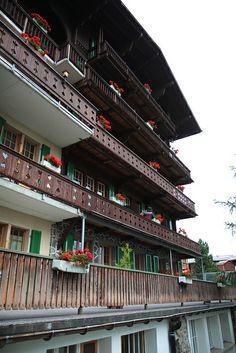 Flowered Balconies, Murren, Switzerland