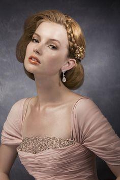 perfect vintage wedding hair! <3