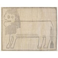 """Orley Shabahang Signature """"Lion"""" Carpet in Handspun Wool and Vegetable Dyes"""