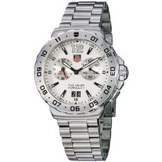 TAG Heuer Men's WAU111B.BA0858 Formula 1 White Dial Grande Date Alarm Watch TAG Heuer. $1275.00. Alarm feature. Quartz movement. White dial. Stainless steel bracelet. Water-resistant to 200 M (660 feet)