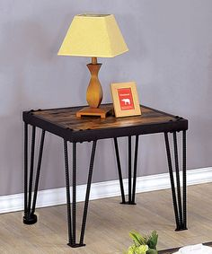 Love this Black Industrial End Table on #zulily! #zulilyfinds