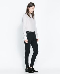 Image 1 of COTTON BIKER TROUSERS from Zara