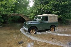 its only water under the bridge for Land Rover Series . Lander Rover, Water Under The Bridge, Mini Morris, Land Rover Series 3, Range Rover Supercharged, Best 4x4, Classy Cars, Off Road, Vintage Trucks