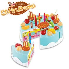 37pcs DIY Birthday Cake Model Kitchen Toy 3+ Children Kids Early Educational Classic Toy Pretend Play #>=#>=#>=#>=#> Click on the pin to check out discount price, color, size, shipping, etc. Save and like it!