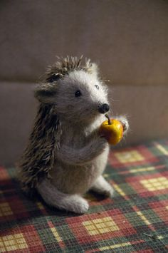 hedgehog with apple~Natasha Fadeeva