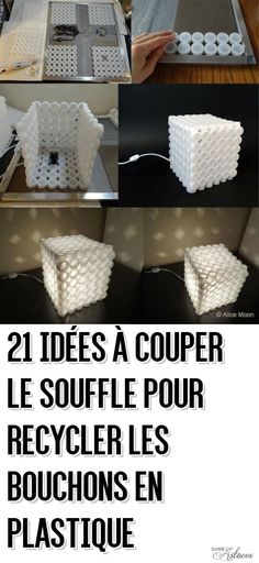 DIY Creative Plastic Bottle Cap Lamp diy diy ideas diy crafts do it yourself diy projects diy tutorial lamp crafts bottle cap lamp o make this lamp you will require lots of plastic bottle caps, a hot glue gun, a socket, a light bulb and a piece of pop can