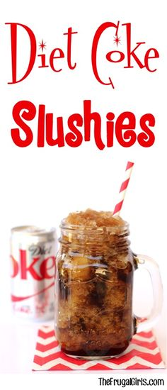 Diet Coke Recipes!  This EASY Slushie Recipe is the perfect refreshing drink on a hot day! | TheFrugalGirls.com