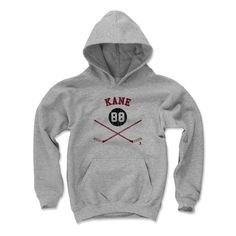 Patrick Kane Sticks R Chicago Officially Licensed NHLPA Youth Hoodie S-XL
