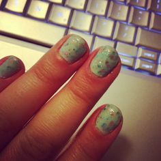 #Revlon Whimsical on top of #Essie Mint Candy Apple!