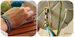 Come fare braccialetti con il cotone Tutorial in italiano