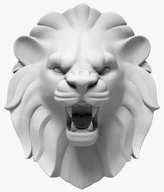 lion s head model Animal Sculptures, Lion Sculpture, 3d Cnc, 3d Model Character, Lion Of Judah, Wood Carving Art, Lion Art, Arte Pop, Animal Heads