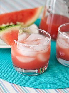 Watermelon Margaritas. Oh yes I love watermelon