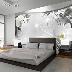 Artgeist Silver Abstract 2.10m x 300cm Wallpaper & Reviews | Wayfair.co.uk