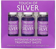Pin for Later: Make Grey Hair Shine Bright Like a Diamond Pro:Voke Touch Of Silver Intensive Keratin Treatment Shots Pro:Voke Touch Of Silver Intensive Keratin Treatment Shots (£7)