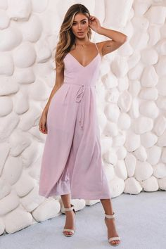 Wear the pants in our Leave A Light On Jumpsuit. Shop now and get EXPRESS shipping worldwide! Pink Jumpsuit, Denim Jumpsuit, Dress Outfits, Dress Up, Outfit Goals, Playsuits, Jumpsuits For Women, Clothes For Women, Women's Clothes